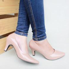 Own Works Sepatu Kerja Pantofel Wanita Heels - Mocca