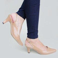 Own Works Sepatu Pantofel Wanita Heels Slingback PVD - Mocca