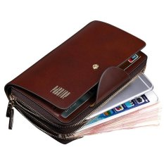 Pabojoe Mens Top End Temperament Business Double Pull Clutch Wallets Multi-purpose (Intl)
