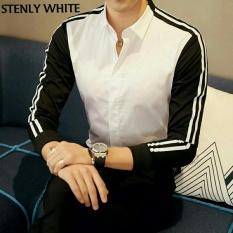 Pakaian Pria / Atasan Pria / Kemeja Pria Stenly - White