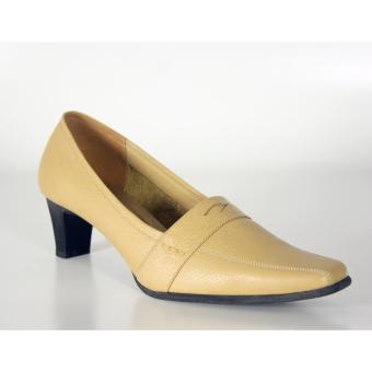 Pantofel Heels - Genuine Leather Khaqy