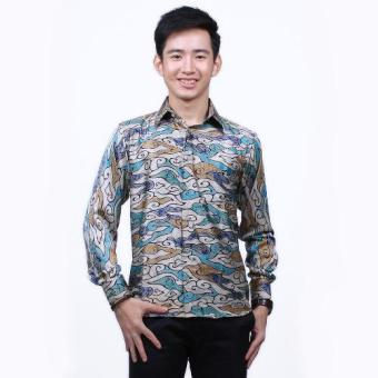 Parama Slim Fit Batik Azure Long Sleeve - Abu Abu