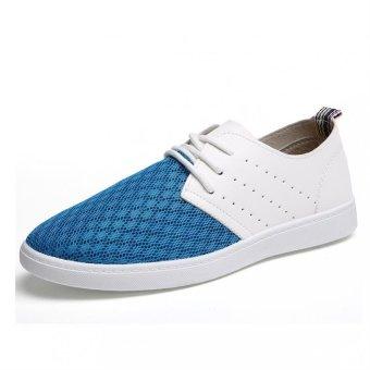 PATHFINDER Men's Summer Fashion Mesh Sneakers (Blue)
