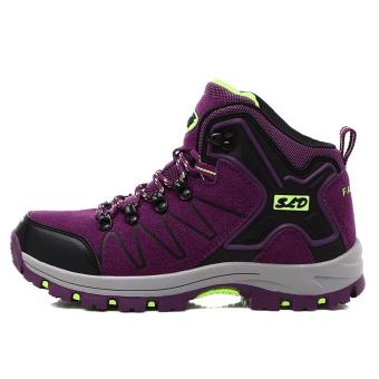 Perempuan Jalur Sepatu Gunung Pendakian Sepatu Tahan Lama Trekking Sepatu  Olahraga Luar Ruangan Sepatu Daki Gunung 7a3fc1b90c