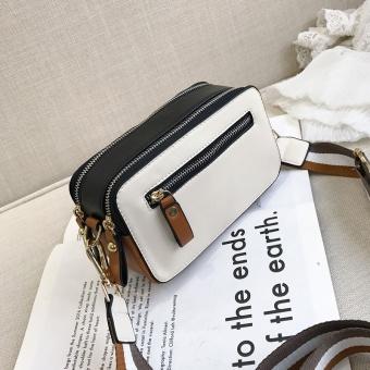 Persegi kecil Korea Fashion Style perempuan baru memukul warna kecil tas tas (Putih)