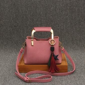 Persegi kecil Korea Fashion Style rumbai perempuan baru bahu Messenger tas  wanita tas tas (Merah 937fe9c1c1