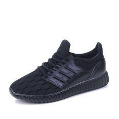 PF 888B Men's Breathable Mesh Fashion Sports Shoes (Black)