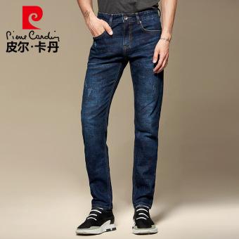 Pierre Cardin pria musim gugur pria lurus celana jeans anak celana jeans  kamuflase (Biru) c093bfc3ce