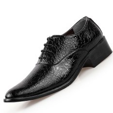PINSV Synthethic Leather Men Formal Shoes Derby & Oxfords (Black) (Intl)