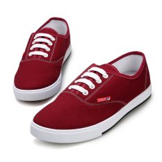 PINSV Unisex Casual Lover Canvas Sneakers Low Cut(Red) (Intl)