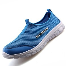 PINSV Women's Breathable Casual Shoes Running Shoes (Blue)