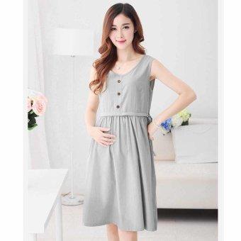 5b6ce729286d6 Harga Plaka Maternity Skirt Large Size Casual Ledies Dresses ,Gray,M ...