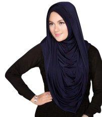 Plasa Cantik Hijab Instant Arabian Hoodie - Biru Navy