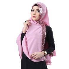 Plasa Cantik Khimar Dubai Sequin Diamond (Baby Pink)
