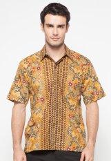 Pomona Batik Kemeja Lengan Pendek - Coklat Muda