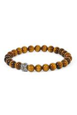 Prana Gemstone Bracelet Tiger's Eye Yoga - Cokelat (Not Defined)
