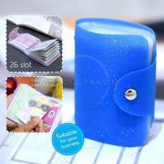 PREMIUM Dompet Kartu nama 26 Slot /Dompet Kartu ATM/credit card OR 92-01 BLINK - Blue