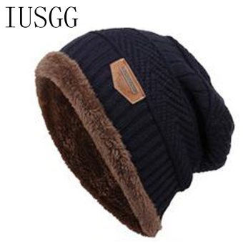 Pria Beanies Topi Rajutan Topi Kupluk Musim Dingin Hangat Musim Dingin Bulu  Merajut Topi Hat Topi 4235c48842
