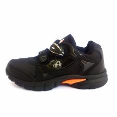 Pro ATT TG Sepatu Anak Kunci Magnet Sepatu Sekolah Warna Hitam
