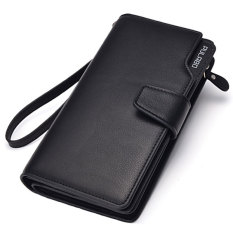 PULABO Dompet Pria Men Long Wallet Zipper Credit Cards Mobile Phone Holder