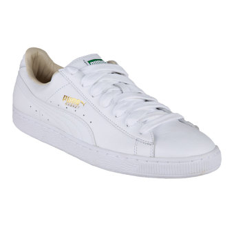 Puma Basket Classic LFS Men's Basketball Shoes - White-White