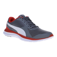 Puma FlexT1 Running Shoes - Quiet Shade-Puma White