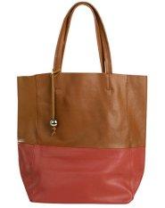 PurCattle Women's Fashion Cow Leather Big Handbag Shoulder Bad Top Handle (Brown) (Intl)