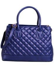 PurCattle Women's Fashion Cross Pattern Top Handle Summer Satchel Handbag (Intl)