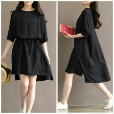 PusatFashion Sexy Dress Raina Casual Wanita - Hitam