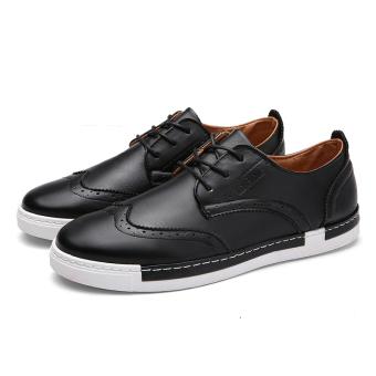 Queen Leather Shoes Bullock Men 's Shoes Casual Shoes (Black) - Intl