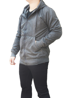 Quincy Jacket Zipper Hoodie Man - Abu-Abu Tua
