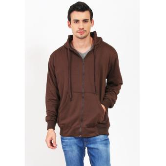 Quincy Jacket Zipper Hoodie Man - DarkBrown