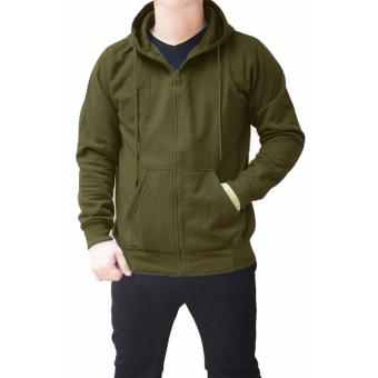 Quincy Jacket Zipper Hoodie Man - Green Army