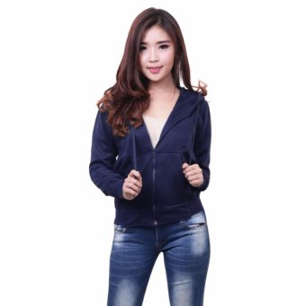 Quincy Jacket Zipper Hoodie Women - Navy