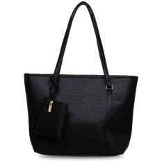 Quincy Label Eve Tote Bag Bonus Tas Kecil - Hitam