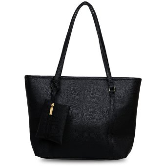 Quincy Label Eve Tote Bag Bonus Tas Kecil - Hitam | Lazada