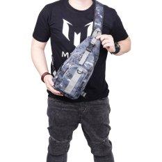 QuincyLabel SlingBag Tas Sandang Messenger Bag Pria Army Forced - Blue Combat