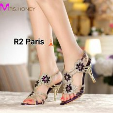 ... R2 Paris Sepatu High Heels Bridita Gold