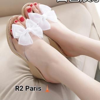 R2 Paris Wedges Sandal Camia - Putih