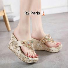R2 Paris Wedges sandal Kalila - Cream