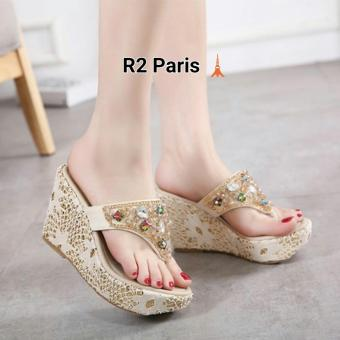 R2 Paris Wedges sandal Kalila - Cream