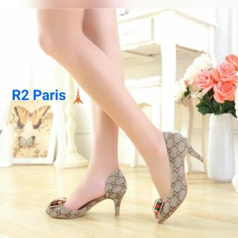 R2Paris High Heels CCI Pita - Coklat