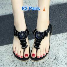 R2 Paris Sepatu Wedges Bunny Mutiara Hitam - Daftar Update Harga ... 95b19c3074