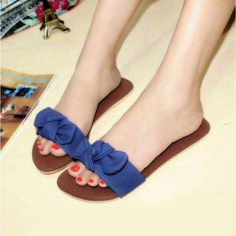 RAFISHASHOES-Sandal Teplek Pita [Blue]