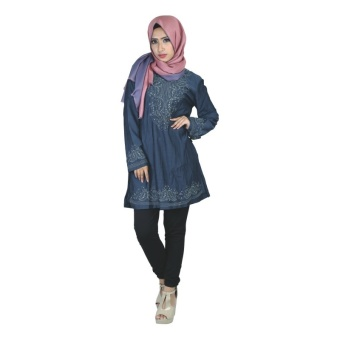 Raindoz Busana Muslim Wanita Ashalina RGS 006 - Biru