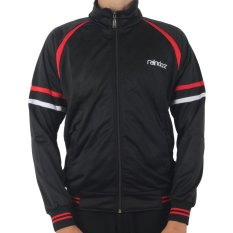 Raindoz Jacket Simple Double Stripe - Hitam
