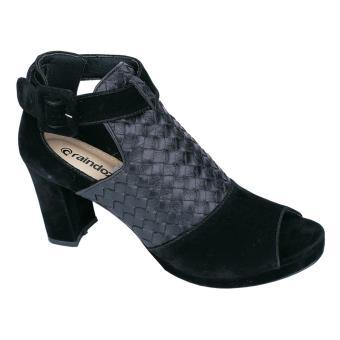 Raindoz Rgh 9613 Sepatu High Heels Casual/Pesta Wanita - Sintetis - Fiber - Elegan Dan Cantik(Hitam )7 Cm