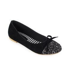Raindoz Women Flats Ribbon - Hitam