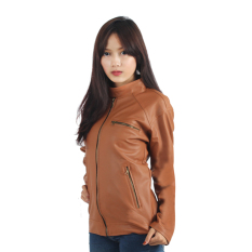 Raindoz Women Leather Jacket Light - Cokelat