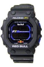 Red Bull Sporty - Jam Tangan Pria - Hitam - Rubber Strap - RB110